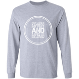 "Bible Verse Long Shirt Ultra Cotton T-Shirt - ""Psalm 119:105"" Design 8 (White Font) - Meditate Healing Christian Store"