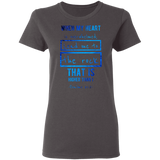 "Bible Verses Ladies' 5.3 oz. T-Shirt - ""Psalm 61:2"" Design 5 - Meditate Healing Christian Store"