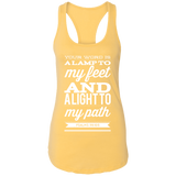 "Bible Verse Ladies Ideal Racerback Tank - ""Psalm 119:105"" Design 15 (White Font) - Meditate Healing Christian Store"