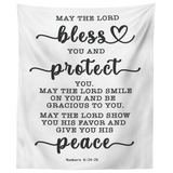 Minimalist Typography Tapestry - The Lord Gives You Peace ~Numbers 6:24-26~