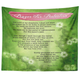 Bible Verses Tapestry Prayer for Protection ~Psalm 91:1-8~ (Design: Misty 2)