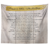 Bible Verses Tapestry Prayer for Protection ~Psalm 91:1-8~ (Design: Wood 3)