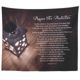 Bible Verses Tapestry Prayer for Protection ~Psalm 91:1-8~ (Design: Lamp 3)