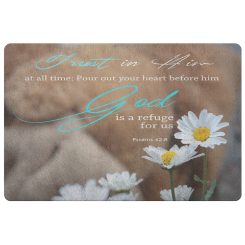 God Is A Refuge For Us ~Psalm 62:8~ - Meditate Healing Christian Store