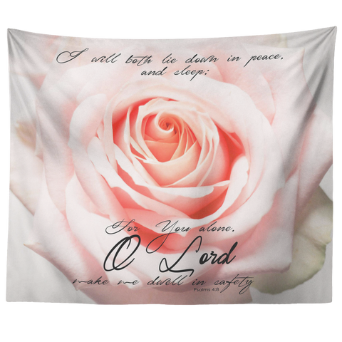 Lord Make Me Dwell In Safety ~Psalm 4:8~ - Meditate Healing Christian Store