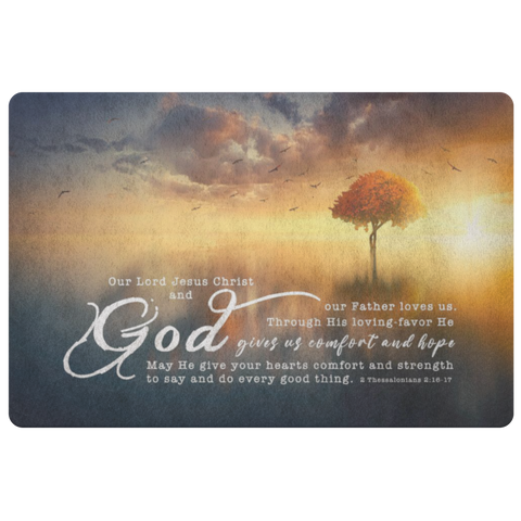 Bible Verses Anti-Slip Protective Doormat - His Grace Gave Us Eternal Comfort ~2 Thessalonians 2:16-17~