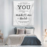 Minimalist Typography Tapestry - Strength In My Soul ~Psalm 138:3~
