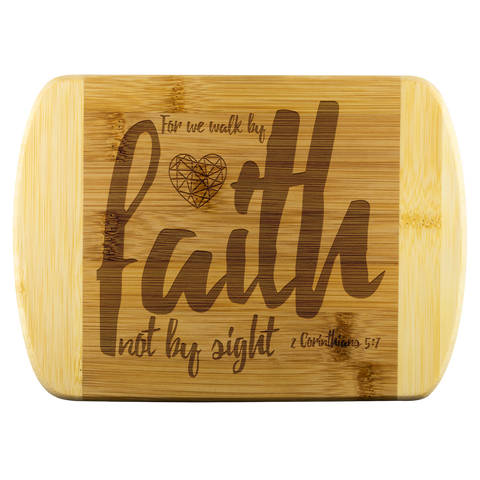 MeditateHealing.com Round Edge Wood Cutting Board