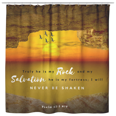 He Is My Rock And Salvation ~Psalm 62:2~ - Meditate Healing Christian Store