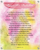 Products Luminous Contemporary Acrylic Print - Prayer for Protection ~Psalm 91:1-8~ (Design: Watercolor 3)