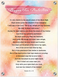 Products Luminous Contemporary Acrylic Print - Prayer for Protection ~Psalm 91:1-8~ (Design: Watercolor 2)