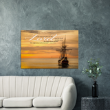 Gallery Quality Framed Canvas Art - Cast Your Burden On The Lord ~Psalm 55:22~