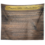 Bible Verses Tapestry Prayer for Protection ~Psalm 91:1-8~ (Design: Wood 2)