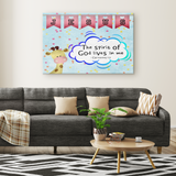 Hope Inspiring Nursery & Kids Bedroom Framed Canvas Wall Art - Spirit Of God Lives In Me ~1 Corinthians 3:16~ (Design: Giraffe 2)