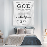 Minimalist Typography Tapestry - Fear Not, I Will Help You ~Isaiah 41:13~
