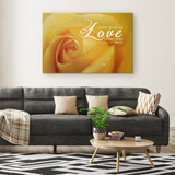 Gallery Quality Framed Canvas Art - Love Never Gives Up ~1 Corinthians 13:7~