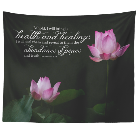 I Will Bring Health & Healing ~Jeremiah 33:6~ - Meditate Healing Christian Store