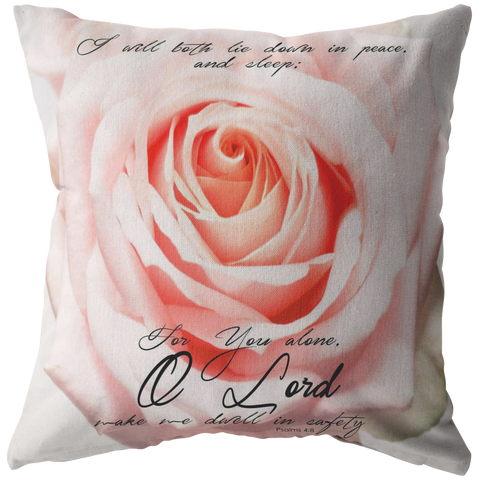 Lord Make Me Dwell In Safety ~Psalms 4:8~ - Meditate Healing Christian Store