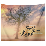 Bible Verses Vivid Print Versatile Tapestry - Trust the Lord ~Psalm 118:8~