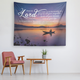 Bible Verses Vivid Print Versatile Tapestry - The Lord Heals, Forgives And Redeems ~Psalm 103:2-4~