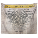 Bible Verses Tapestry Prayer for Protection ~Psalm 91:9-16~ (Design: Wood 3)