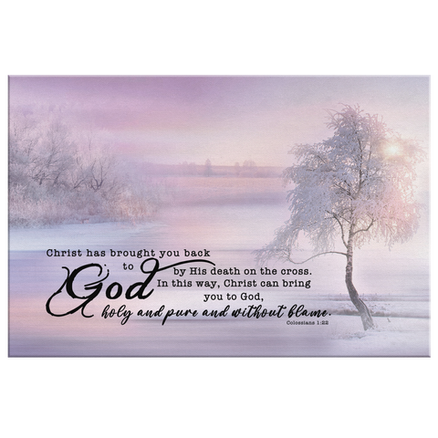 Gallery Quality Framed Canvas Art - Salvation through Christ ~Colossians 1:22~