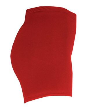 Red compression shorts