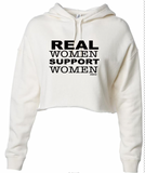 Real Women Support Women Crop Hoodie