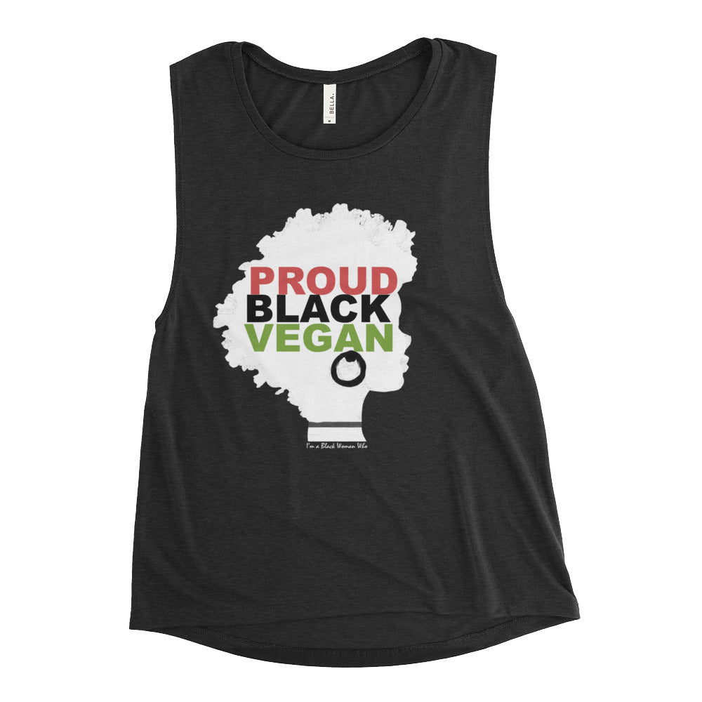Proud Black Vegan Muscle Tank