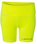 5-Inch Neon Green Fitted Shorts