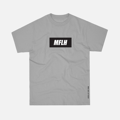 The Bold Box Logo Tee // Grey