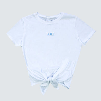 Box Logo Front Tie Cropped Tee