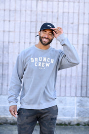 The Brunch Crew Sweatshirt // Grey