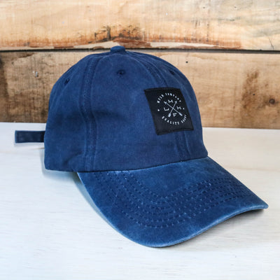 QG Dad Hat Navy Wash