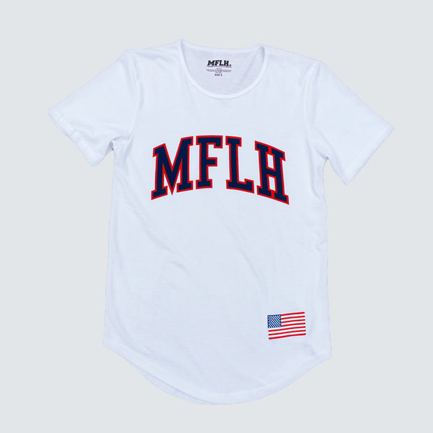 USA Men's White Tee