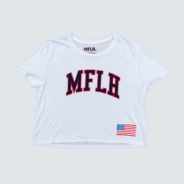 USA Women's Crop Tee