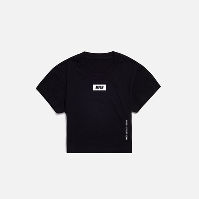 The Bold Box Logo Cropped Tee // Black