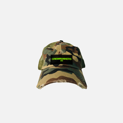Crew Runners Trucker Cap // Destroyed Camo