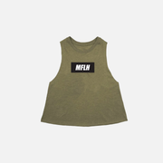 Bold Box Logo Cropped Muscle  // Olive