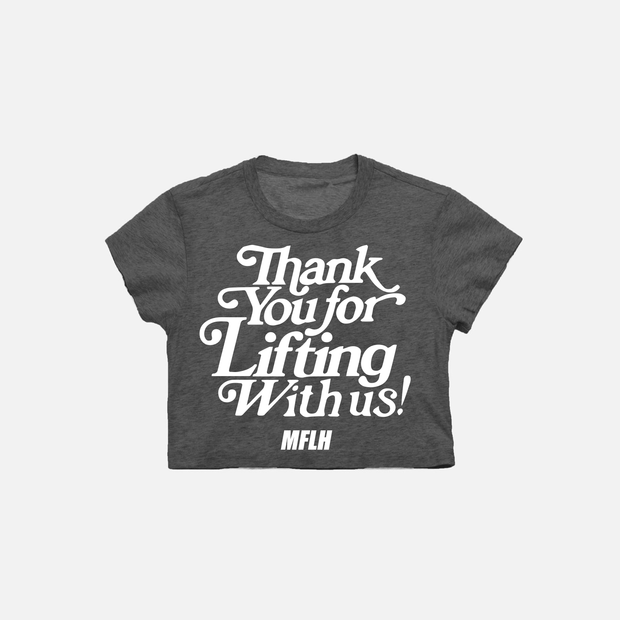 Thankful Cropped Tee // Charcoal