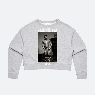 IRON MIKE CROPPED CREW NECK // GREY