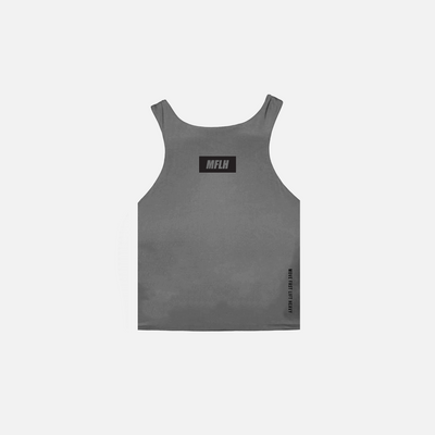 The Bold Box Logo High Neck Tank // Nickel
