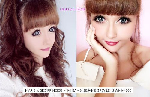 Achieve BIG Gyaru Eyes with Geo Princess Mimi Sesame Grey