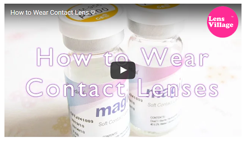 How to use contacts: Open bottle and put circle lens on