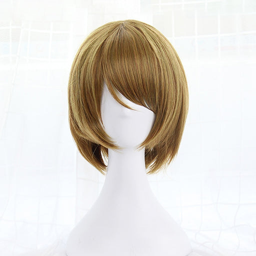 "Hanayo Koizumi Love Live 12"" Female's Bobo Short Straight Wig Light Brown Synthetic Hair Wig+hairnet"