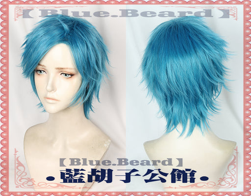 Yarichin Bitch Bu Club YUI TAMURA Blue Short Wig