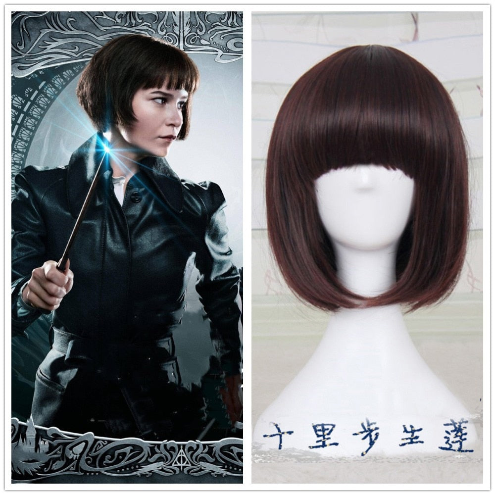 Fantastic Beasts The Crimes of Grindelwald Short Straight Wig Red Tina Goldstein BOBO