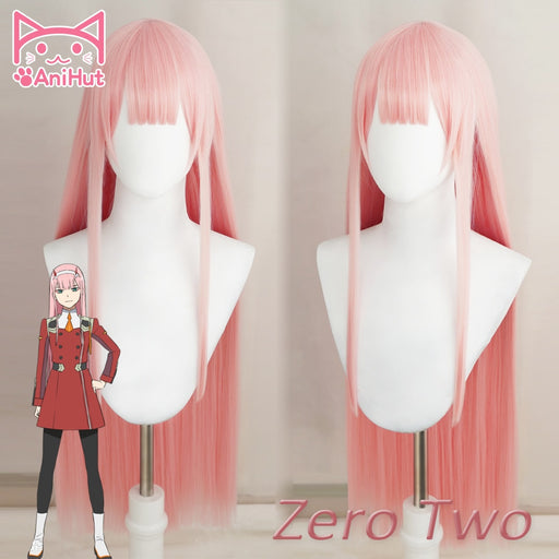 DARLING in the FRANXX Long Straight Wig Pink Synthetic Hair