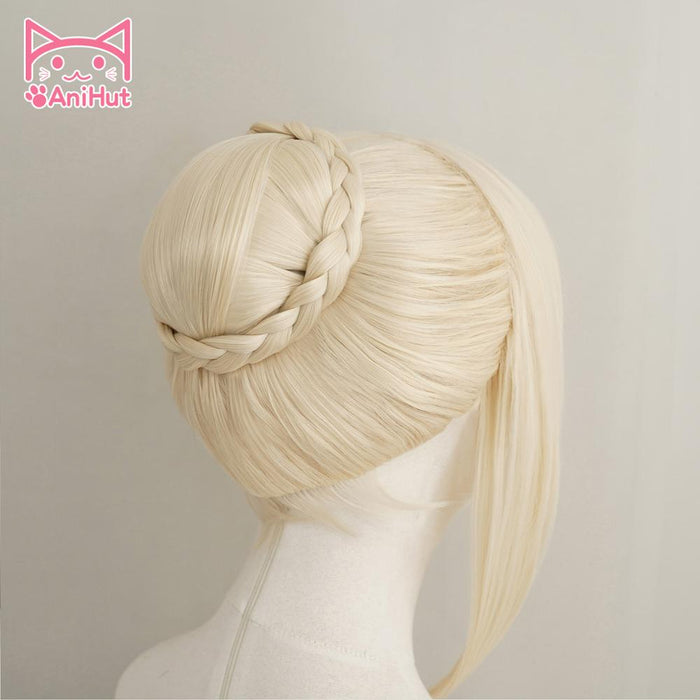 Alter Saber Blonde Wig Hair Bun Fate Grand Order Fate Stay Night