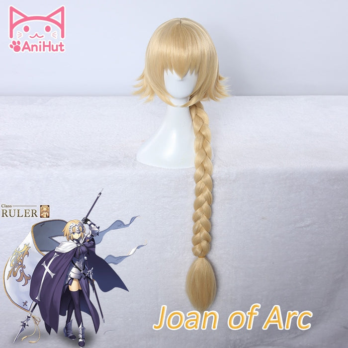 Joan of Arc Long Wig Pigtail Blonde Fate Grand Order Fate/Zero Jeanne d'Arc Fate/Apocrypha